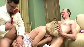Wild playgirl gets jizz flow in her booty from horny teacher