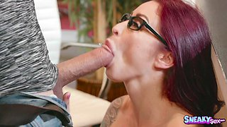 Massive dick filling Monique Alexander's slippery hole