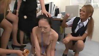 Japanese slut office piss humiliation