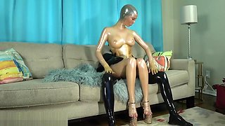 Milked by the Golden Rubberdoll