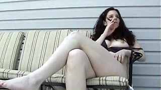 Fabulous Amateur video with Smoking, Solo scenes
