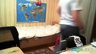 Russian teen fuck at home hidden cam