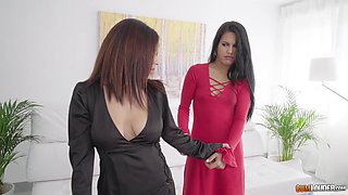 Apolonia and Aysha join horny friends for a hot cock ride