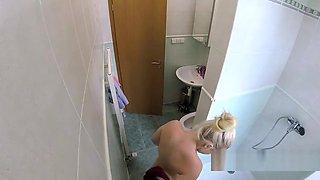 Doctor bangs blonde after shower