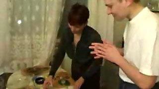 Russian Mom Banged By Her boyfriends Friends