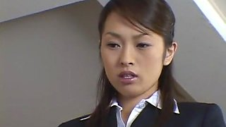 Crazy Japanese slut Hikaru Hozuki in Incredible Threesomes, Secretary JAV video