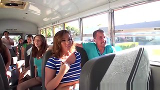 Horny Students Fuck In The School Bus