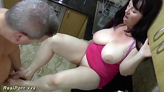 Chubby housewife rough fucked
