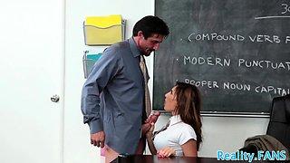 Stunning schoolgirl drilled by horny teacher