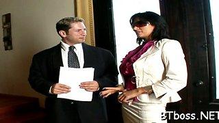 the boss sucks and tit fuck segment