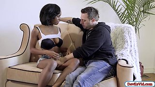 Ebony Ivy seducing her mechanic friend