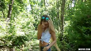 quickie in the woods with a skinny slut empera