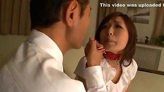 Fabulous Japanese chick Miwako Yamamoto in Hottest Doggy Style, Slave JAV video