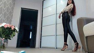 Nasty amateur latex leggins fetish