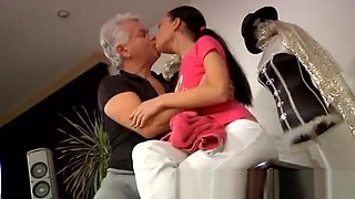 Old fuck blonde teen and old man fucks asian and old mom seduce girl and