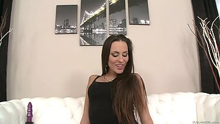 mea malone spreads and stretches her long gams like a gymnast