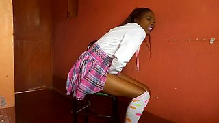 School girl cums over and over