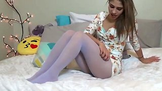 White pantyhose masturbation 1