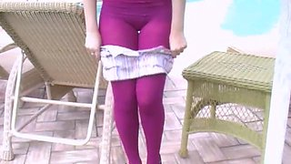 sexy tease in cute and sexy pantyhose
