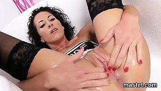 Peculiar czech chick opens up her yummy vulva to the peculia