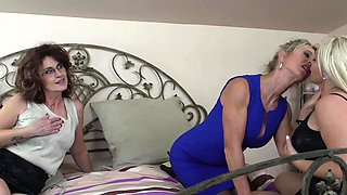 Three lesbian matures having fun with each other
