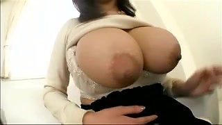 Rin Kazane oriental large milk shakes