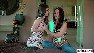 Lesbian stepdaughter seducing her lovely stepmom
