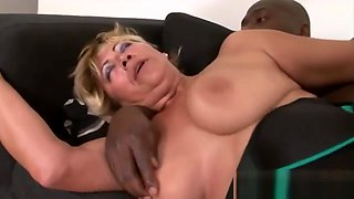 Huge Titted Blonde Milf Never Had A Bbc Before
