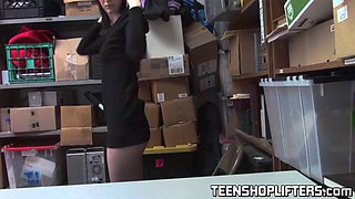 teen thief ivy aura gets punished and rides big strong dick