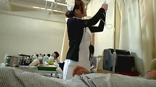 Exotic Japanese whore Emi Yoshida in Crazy Nurse, Hairy JAV movie