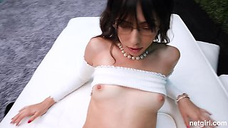 Getting her cunt fucked in POV makes horny babe Judy happy