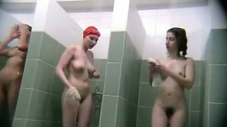 Spy voyeur cam video from the Russian public shower room