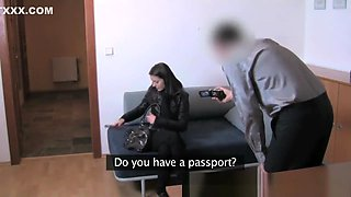 Shy innocent student tricked into sex in Casting Interview