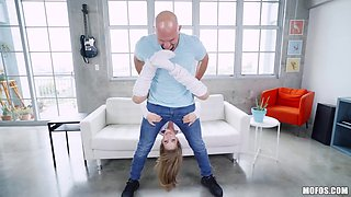 sexy gymnastics fun with kimmy and j-mac