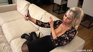 Slutty Bridgette B gets pounded hard and caught by her husband