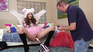Small-titted Elena Koshka looking adorable and getting fucked anally
