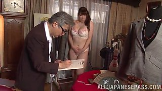 doting asian cowgirl with a medium ass posing seductively in her panties