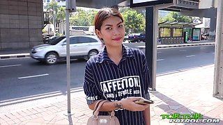 Stunning and tall Thai girl shows off perfect body and works cock like a champion