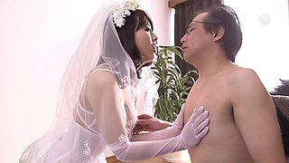 Mao Hamasaki is a horny bride ready to be fucked