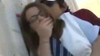 big ass blond teen groped in bus