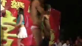 Chinese girl nude dance on the wedding