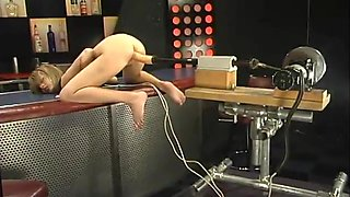 Lustful Blonde Corina Taylor Fucked by Machine in Bar