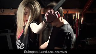 curly slim blonde teen tied punished submissive to fuck