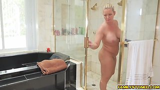 blair williams suck her step dads cock in the bathroom