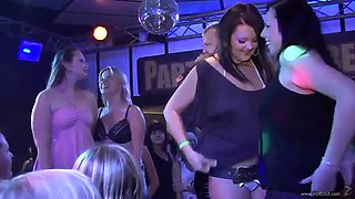 a wild party with drunk babes and perverted strippers