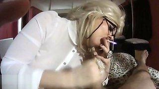 beautiful retro smoking slut gives lipsticky blowjob