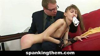 Secretary gets her spanking