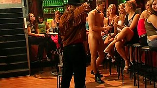 Handsome cowboy stripper is invited to an orgy party