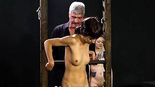 Hot slave bdsm with cumshot