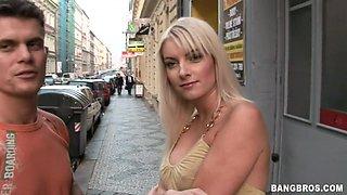 Amazingly hot blonde babe enjoys a big cock